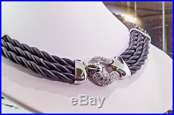 Belle Etoile Lasso Black Collection Necklace with Cubic Zirconia