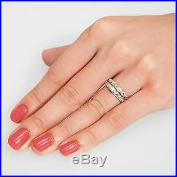Black Hills Gold wedding engagement ring set 9.25 silver & cubic zirconia