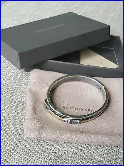 Bottega Veneta CUBIC ZIRCONIA/SILVER BRACELET, new in box