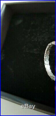 Bottega Veneta Silver Zirconi Natural Peacock Cubic Ring L Used