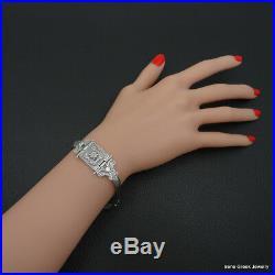 Byzantine Bracelet Cubic Zirconia 925 Sterling Silver Greek Art Handmade