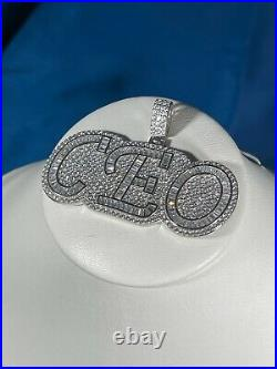 CEO Style 925 Sterling Silver Pendant Cubic Zirconia Stones Iced Out