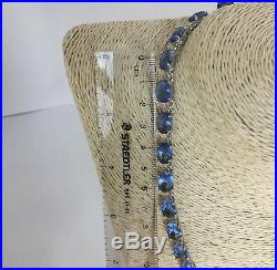 CHARLES WINSTON High Quality Necklace with 115ctw Cubic Zirconia 925 Silver 18-22