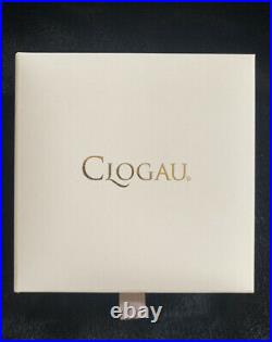 CLOGAU Sterling Silver And 9K Welsh Gold Heart Pendant With Cubic Zirconia