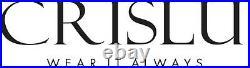 CRISLU Cubic Zirconia Q Link Ring Finished in Multi Finish Pure Platinum- 7-NWT