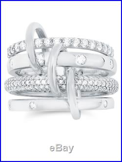 CRISLU Cubic Zirconia Q Ring Finished in Pure Platinum- Size 6 Brand New -SALE