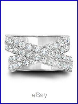 CRISLU Cubic Zirconia STARDUST Ring Finished in Pure Plattinum 4.70 cttw sz 6