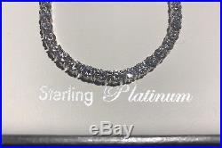 CRISLU Tennis NECKLACE 24 cttw CUBIC ZIRCONIA Platinum. 925 Sterling Silver 16