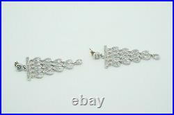CWE Charles Winston Sterling Silver & Cubic Zirconia Chandelier Dangle Earrings