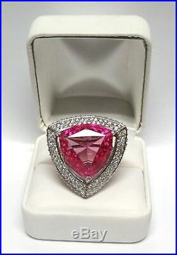 Charles Winston Pink Sapphire Cubic Zirconia Sterling Silver Ring 15.95G