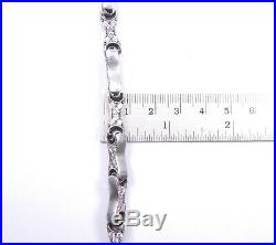 Cross Pendant & Chain Huge Heavy Cubic Zirconia Set 925 Sterling Silver 129.6g