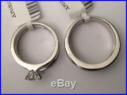 Cubic Zarconia His Her Men Women Black CZ Sterling Silver Trio Set Wedding Ring