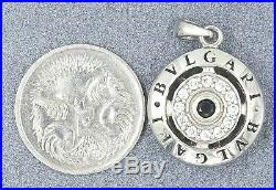 Cubic Zirconia CZ Bvlgari Womens Pendant 925 Sterling Silver