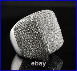 Cubic Zirconia CZ Ring Sterling Silver Cocktail Band