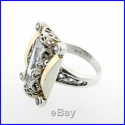 Cubic Zirconia (Colorless) Ring Set In Sterling Silver Size 7.5