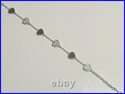 Cubic Zirconia Heart Bracelet Fiorelli Sterling Silver rrp £145