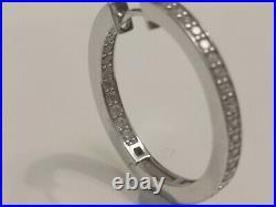 Cubic Zirconia Hoop Earrings Ti Sento Sterling Silver rrp £1175