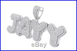 Cubic Zirconia JAYY Hip Hop Pendant 14K White Gold Over 925 Sterling Silver