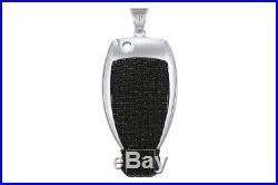 Cubic Zirconia Mercedes Key Hip Hop Pendant 14K White Gold Over Sterling Silver