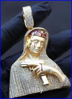 Customized Baby Nun 925 Sterling Silver Cubic Zirconia Pendant Free Shipp