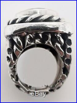 D Carol Sterling Silver Large Cubic Zirconia Ring