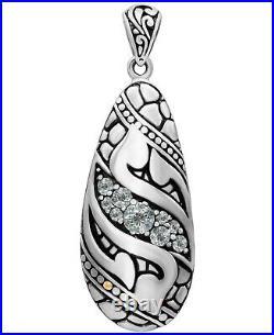 DEVATA Bali Filigree Sterling Silver 925 Necklace Spinel CZ 18K Gold DVR9583