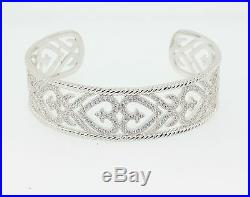 Designer cuff bracelet set With cubic zirconia in sterling silver