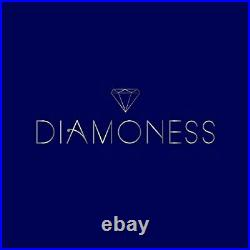 Diamoness Sterling Silver Rainbow Tennis Necklace Square Cut Cubic Zirconia 18