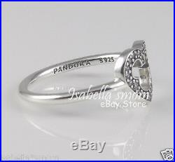 Disney MICKEY SILHOUETTE Genuine PANDORA Silver/Clear Cubic Cz RING 4.548 NEW