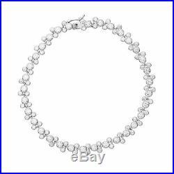 Disney Sterling Silver Mickey Mouse Clear Cubic Zirconia Tennis Bracelet, 7.5
