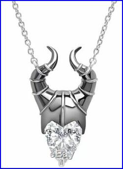 Disney's Maleficent Mistress of Evil 925 Silver Pendant Necklace Cubic Zirconia