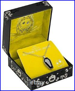 Disney's The Nightmare Before Christmas Cubic Zirconia Coffin Pendant Necklace
