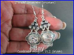 Don Lucas UrbanSouthwest BlingCubic ZirconiaStamped Charm925 Earrings