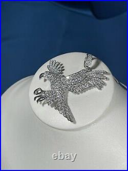 Eagles Style 925 Sterling Silver Pendant Cubic Zirconia Stones Iced Out