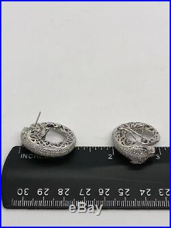 Earrings Sterling Silver 925 Cubic Zirconia Panther