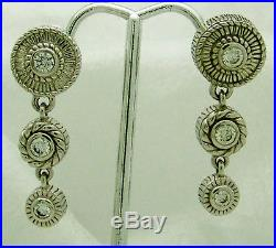 Enthralling Judith Ripka Cubic Zirconia Sterling Silver Chandelier Earrings