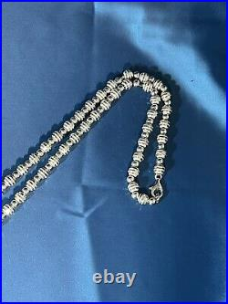 Exclusive Balls Style 925 Sterling Silver Chain Full Cubic Zirconia Stones Iced
