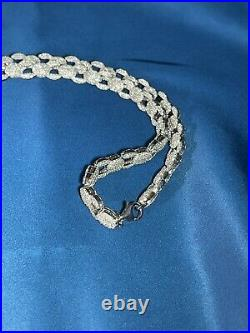 Exclusive Design 925 Sterling Silver Mens Chain Iced Out With Cubic Zirconias