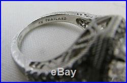 Fabulous Judith Ripka Sterling Silver Asscher Cut 4 Carat Cubic Zirconia Ring