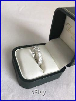 Fantasia by Deserio Cubic Zirconia Eternity Band Ring Sterling 925 New Size 8
