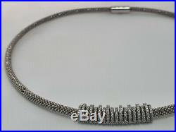 Genuine Links of London STARDUST CROWN necklace, silver + cubic zirconia, rare