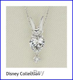 Gift! Disney Tinker Bell Sterling Silver Cubic zirconia Necklace pendant 925 FS