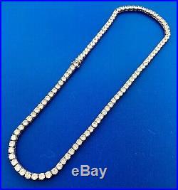Glamorous Designer Sterling Silver Cubic Zirconia CZ Statement Tennis Necklace