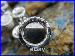 Glamorous Judith Ripka Sterling Silver & Cubic Zirconia Designer Link Bracelet