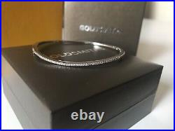 Goldsmiths Sterling Silver Cubic Zirconia Bangle Bracelet New In Box