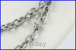 Gripping Judith Ripka Sterling Silver & Cubic Zirconia Necklace