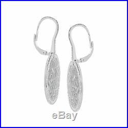 Guy Laroche Circle Drop Earrings with Cubic Zirconia in Sterling Silver
