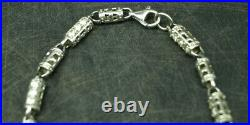 HEAVY 70g! STERLING SILVER 925 NECKLACE CHAIN 30 with Cubic Zirconium (D210)