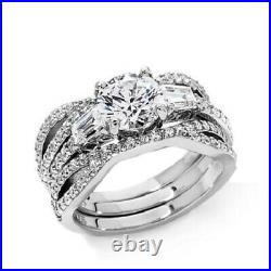 HSN Victoria Wieck 2.66ct Round Cut Cubic Zirconia Sterling Bridal Ring Set 7