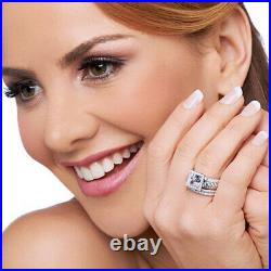 HSN Victoria Wieck Princess & Round Cubic Zirconia Sterling Trio Ring Set Size 6